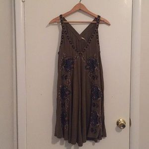Free People Embroidered Sleeveless Tunic